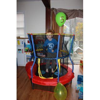 Skywalker Trampolines 48 In. Round Zoo Adventure Bouncer with Enclosure : Sports & Outdoors