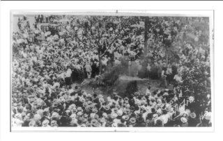 Historic Print (M): [Large crowd watching the lynching of an African American, possibly, Jesse Washington, i