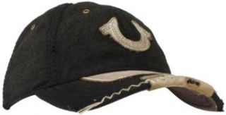 True Religion Men's Wool Baseball Cap with Horseshoe, Black, One Size at  Men�s Clothing store: True Religion Hats