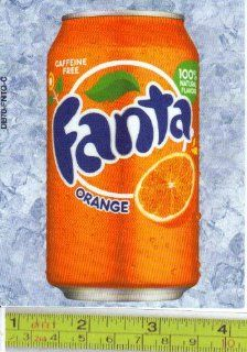 Large Square or Marketing Vendor Size Fanta Orange CAN Soda Vending Machine Flavor Strip, Label Card, Not a Sticker