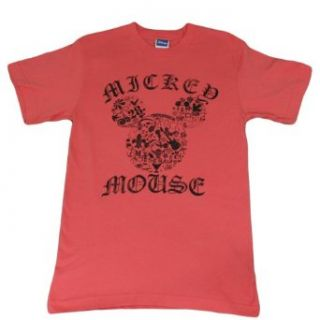 "Disney Womens Vintage ""Mickey Mouse"" Print T Shirt (MEDIUM) Clothing"