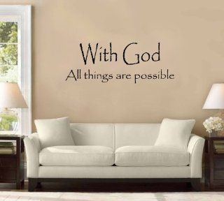 "54"" With God All Things Are Possible Large Wall Decal Sticker Christian Quote Home Decoration Decor   Other Products"