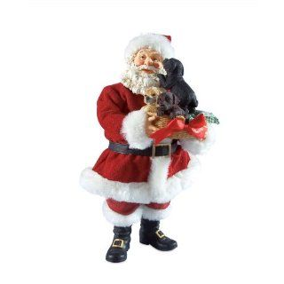 Department 56 Possible Dreams Clothtique Santa Figurine, Puppy Love   Holiday Figurines