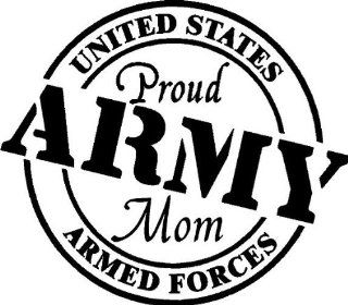 Proud Army Mom Vinyl Wall/car Decal   Wall Decor Stickers