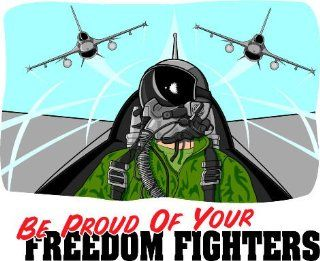 "4"" Printed color Be Proud Of Freedom Fighters Patriotic military sticker decal for any smooth surface such as windows bumpers laptops or any smooth surface.: Everything Else"