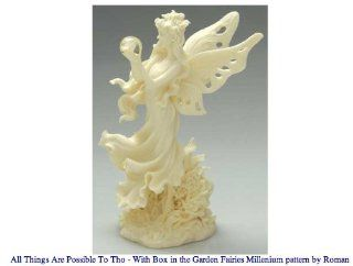 Garden Fairies From Roman Inc. All Things are Possible Fairy Figurine   Collectible Figurines