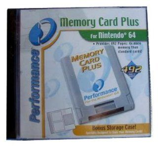 Memory Card Plus, Nintendo 64 Memory Card, Provides 492 Pages of Memory Video Games
