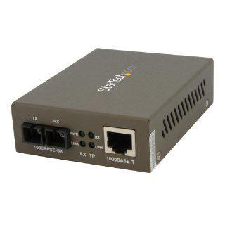 StarTech 1000 Mbps Gigabit Multi Mode Fiber Ethernet Media Converter SC 550m (MCMGBSC055) Electronics