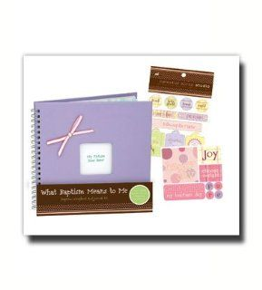 Scrapbook Kits, Girl Baptism, Celestial Scrap Studio  Designed to Help Children Record Thoughts and Feelings About This Special Time, the Text Provides a Journal Combined Wiht Additional Pages for Recording Family History and Testimonies. Use the Included