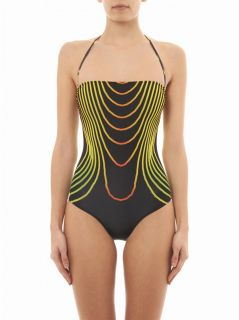 Grid Face print swimsuit  Christopher Kane