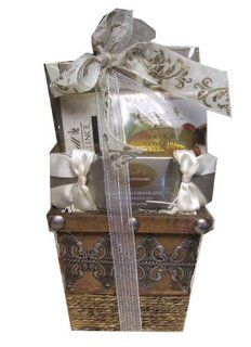 Seasons Greetings Lindt Holiday Chocolate and Hot Chocolate Gift Basket Present : Gourmet Chocolate Gifts : Grocery & Gourmet Food