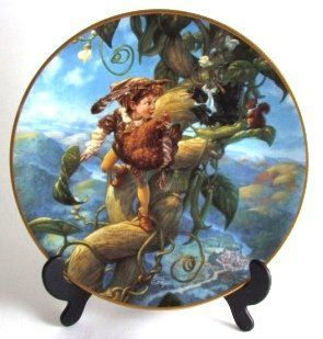 Knowles Classic Fairy Tales Scott Gustafson plate Jack and the Beanstalk CP1147   Decorative Plaques