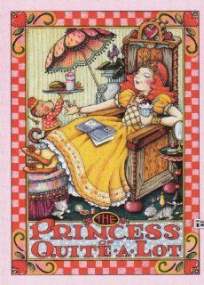 "Mary Engelbreit Note Cards Set of 8 Blank Notecards & 8 Envelopes ""The Princess of Quite a Lot"" : Office Products"