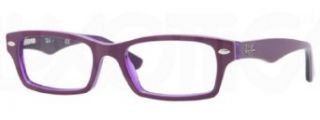Ray Ban Junior RY1530 Eyeglasses 3589 Top Violet on Violet Transparent 48mm Clothing