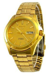 Seiko Men's SNKK98 Stainless Steel Analog with Gold Dial Watch at  Men's Watch store.