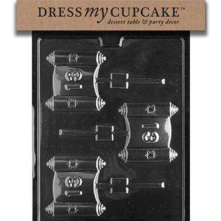 Dress My Cupcake DMCR059 Chocolate Candy Mold, Bar Mitzvah Lollipop Kitchen & Dining