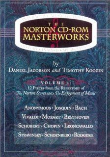 The Norton Cd Rom Masterworks: Daniel Jacobson, Timothy Koozin: 9780393991956: Books
