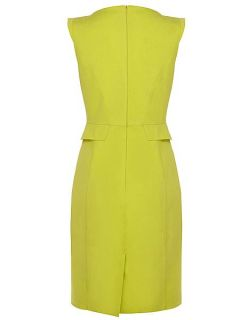 Karen Millen Colourful Cotton Shift Dress Lime
