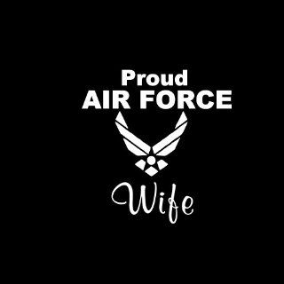 "Proud Air Force Wife Car Window Decal Sticker White 5"": Automotive"