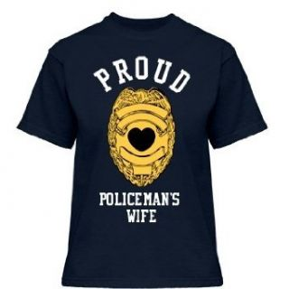 Proud Policeman's Wife: Gildan Misses Relaxed Fit Cotton T Shirt: Novelty T Shirts: Clothing