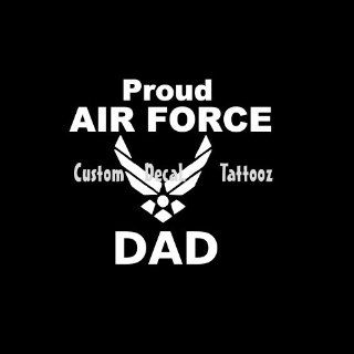 "Proud Air Force Dad Car Window Decal Sticker White 5"": Automotive"