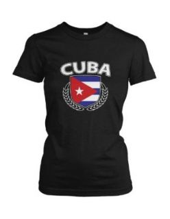Cuba Cuban Spanish Country Nation Hispanic Island Pride Proud Women's T shirt Clothing