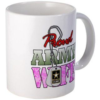 Mug (Coffee Drink Cup) Proud Army Wife : Everything Else