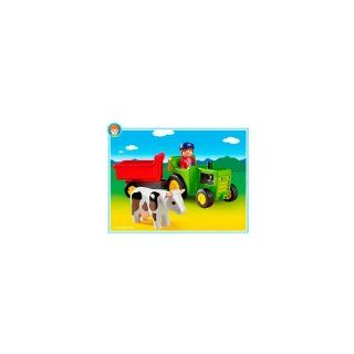 Playmobil   Farmer with Tractor: Toys & Games