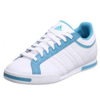 adidas Women's Batida II W Leather Tennis Shoe,White/White/Sky,7 M: Clothing