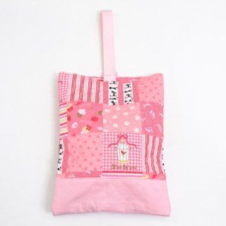Cloth pattern made in Japan N3221000 of Kids shoes case put slippers, slipper bag quilting type Suite pink handmade sense (japan import): Toys & Games
