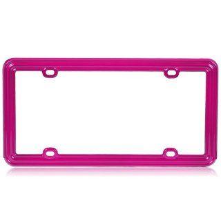 Plastic License Plate Frame in Solid Hot Pink Color : Automotive License Plate Frames : Car Electronics