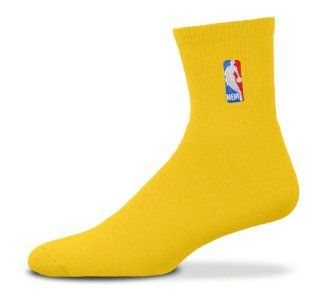 NBA Logoman Quarter Length Sock   Gold   Gold Large : Sports Fan Socks : Sports & Outdoors