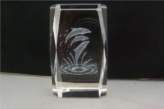 3 Leaping Dolphins Laser Cut Decorative Crystal 2in x 3 1/2in : Other Products : Everything Else