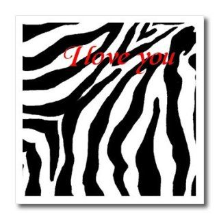 ht_26100_3 Patricia Sanders Creations   I Love You Romantic Zebra Print   Iron on Heat Transfers   10x10 Iron on Heat Transfer for White Material: Patio, Lawn & Garden