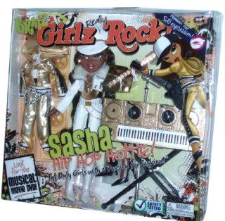 "Bratz Girlz Really Rock 10 Inch Doll Playset   SASHA the Hip Hop Hottie with 2 Sets of Outfits, ""Guitar"", ""Keyboard"" and ""Microphone"" with Stand: Toys & Games"