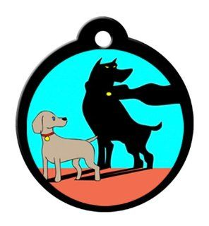 BARKCODE Alter Ego Line QR Code Pet ID Tag, Itty Bitty Caped Crusader, Full Color : Pet Identification Tags : Pet Supplies
