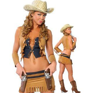 Buffalo Jill  Women's Cowgirl Sexy Halloween Costumes: Clothing