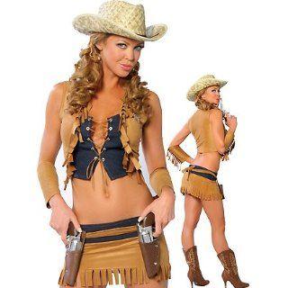 Buffalo Jill  Women's Cowgirl Sexy Halloween Costumes: Clothing