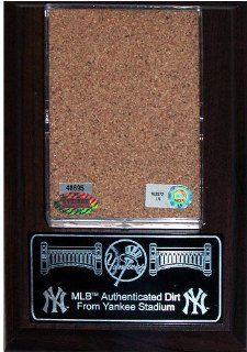 New York Yankees Game Used Yankee Stadium Dirt Plaque  Sports Fan Decorative Plaques  Sports & Outdoors