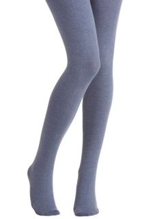 Truly Trustworthy Tights in Denim Blue  Mod Retro Vintage Tights