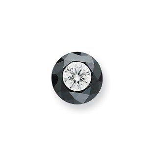 1.75ct. Black and White Diamond Single Stone AA Quality: Jewelry
