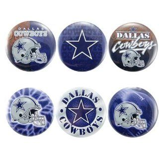 Dallas Cowboys 6 Pack Team Buttons  Sports Related Pins  Sports & Outdoors