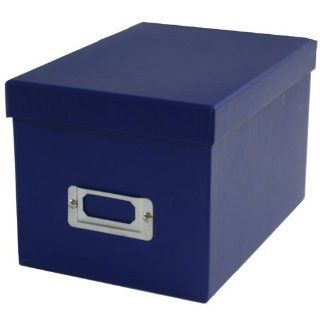 Navy Blue Heavy Duty Box with Shoebox Style Lid   6 1/8 x 8 3/4 x 5 1/2   sold individually  Record Storage Boxes