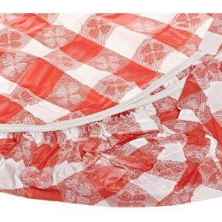 Kwik Cover 2496 RW 24'' X 96'' Kwik Cover  Red Gingham Fitted Table Cover (4 Bags of 25): Industrial & Scientific