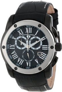 Swiss Legend Men's 10005 BB 01 SB Traveler Collection Chronograph Black Dial Black Leather Watch at  Men's Watch store.