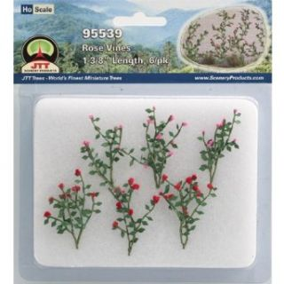 JTT Scenery Products Flowering Plants Rose Vines HO Scale Hobby Train Sceneries: Toys & Games