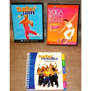 Turbo Jam DVD, Yoga Booty Ballet DVD, Turbo Results Guidebook, Beachbody DVD's: Chalene Johnson, Gillian Marloth, Teigh McDonough: Books