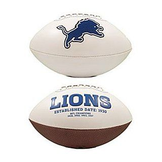 Detroit Lions Embroidered Signature Series Football  Sports Related Collectible Footballs  Sports & Outdoors