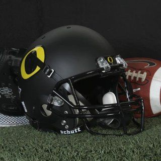 NCAA Oregon Ducks Replica Helmet   Alternate 3 (Matte Black) : Sports Related Collectible Full Sized Helmets : Sports & Outdoors