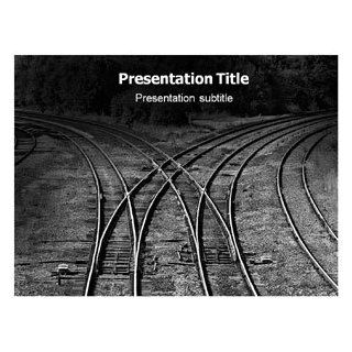 Right Choice (PPT) Powerpoint Template  Railroad PPT Templates  Powerpoint Background for Railway  Powerpoint theme on Rail road: Software